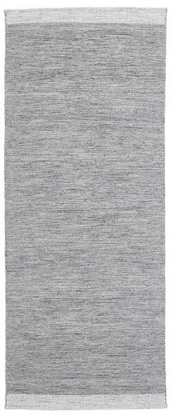 Serafina - Tummanharmaa Melange Matto 100X350 Moderni Käsinkudottu Käytävämatto Vaaleanharmaa (Villa, Intia)