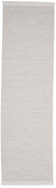 Serafina - Beige_Melange Matto 100X350 Moderni Käsinkudottu Käytävämatto Vaaleanharmaa (Villa, Intia)