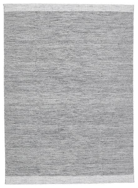 Serafina - Tummanharmaa Melange Matto 140X200 Moderni Käsinkudottu Vaaleanharmaa (Villa, Intia)