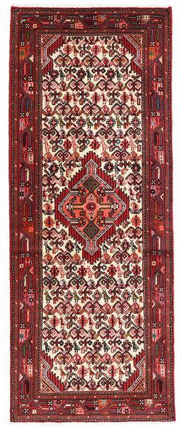 Hamadan Matto 75X194 Itämainen Käsinsolmittu Käytävämatto Tummanruskea/Tummanpunainen (Villa, Persia/Iran)