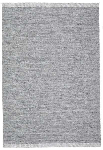 Serafina - Tummanharmaa Melange Matto 200X300 Moderni Käsinkudottu Vaaleanharmaa/Vaaleansininen (Villa, Intia)