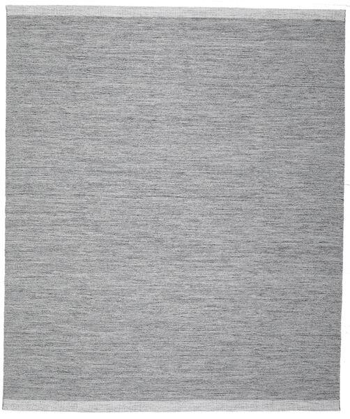 Serafina - Tummanharmaa Melange Matto 0X0 Moderni Käsinkudottu Vaaleansininen/Vaaleanharmaa (Villa, Intia)