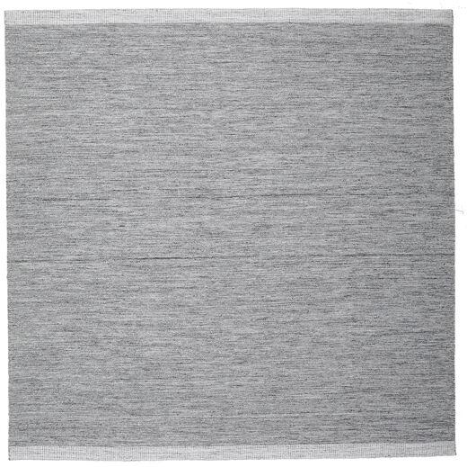 Serafina - Tummanharmaa Melange Matto 250X250 Moderni Käsinkudottu Neliö Vaaleanharmaa/Vaaleansininen Isot (Villa, Intia)
