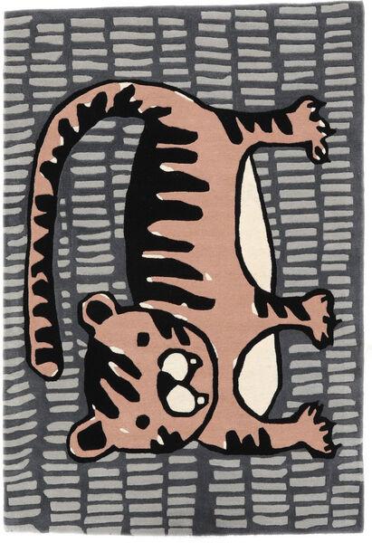 Cool Cat - Harmaa/Roosa Matto 120X180 Moderni Tummanharmaa/Vaaleanharmaa (Villa, Intia)