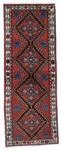 Lillian Matto 64X170 Itämainen Käsinsolmittu Käytävämatto Tummanpunainen/Musta (Villa, Persia/Iran)