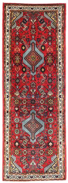Hamadan Matto 70X193 Itämainen Käsinsolmittu Käytävämatto Tummanruskea/Punainen (Villa, Persia/Iran)