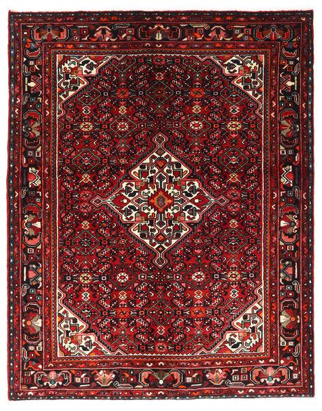 Hosseinabad Matto 164X208 Itämainen Käsinsolmittu Tummanpunainen/Tummanruskea (Villa, Persia/Iran)