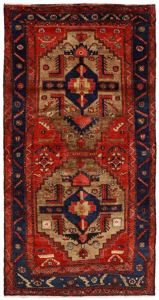 Nahavand Matto 125X246 Itämainen Käsinsolmittu Ruoste/Tummanvioletti/Tummanruskea (Villa, Persia/Iran)