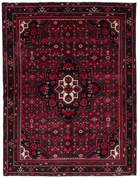 Hosseinabad Matto 168X215 Itämainen Käsinsolmittu Tummanpunainen (Villa, Persia/Iran)