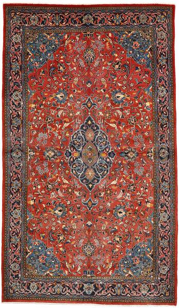Sarough Matto 130X226 Itämainen Käsinsolmittu Tummanruskea/Ruoste (Villa, Persia/Iran)