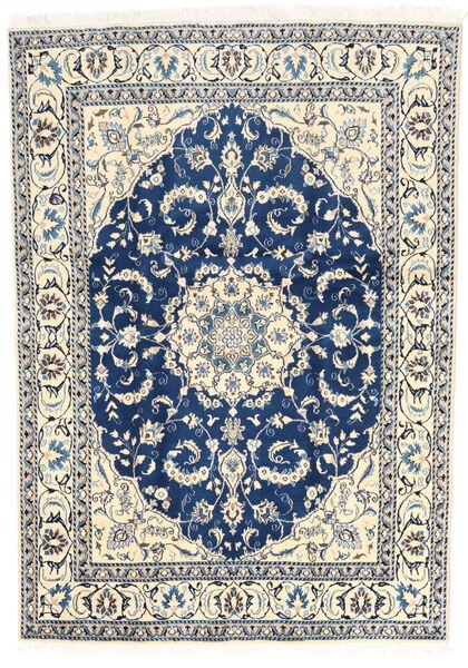Nain Matto 163X237 Itämainen Käsinsolmittu Beige/Vaaleanharmaa/Tummansininen (Villa, Persia/Iran)