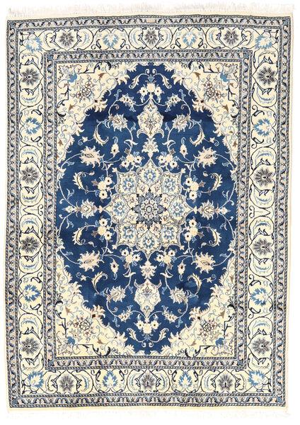 Nain Matto 166X232 Itämainen Käsinsolmittu Beige/Vaaleanharmaa/Tummansininen (Villa, Persia/Iran)