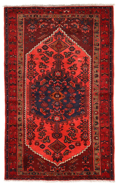 Zanjan Matto 132X210 Itämainen Käsinsolmittu Tummanpunainen/Punainen (Villa, Persia/Iran)