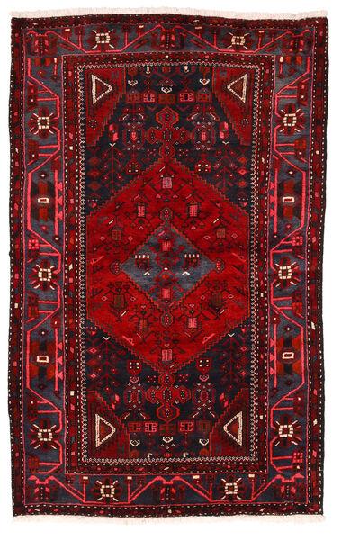 Hamadan Matto 136X219 Itämainen Käsinsolmittu Tummanpunainen/Punainen (Villa, Persia/Iran)