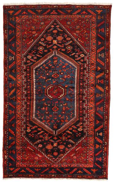 Zanjan Matto 147X227 Itämainen Käsinsolmittu Tummanpunainen (Villa, Persia/Iran)