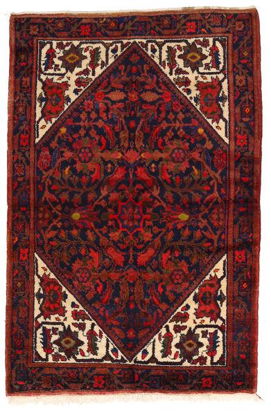 Zanjan Matto 143X215 Itämainen Käsinsolmittu Tummanpunainen/Musta (Villa, Persia/Iran)