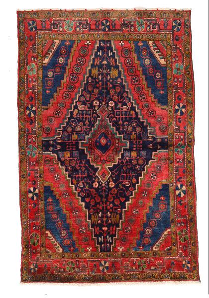 Najafabad Matto 136X218 Itämainen Käsinsolmittu Tummanvioletti/Tummanpunainen (Villa, Persia/Iran)