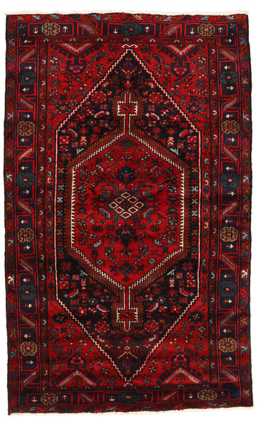 Hamadan Matto 137X223 Itämainen Käsinsolmittu Tummanpunainen/Punainen (Villa, Persia/Iran)