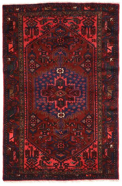 Hamadan Matto 138X210 Itämainen Käsinsolmittu Tummanpunainen (Villa, Persia/Iran)
