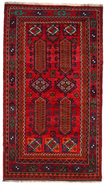 Kurdi Matto 135X240 Itämainen Käsinsolmittu Tummanpunainen/Punainen (Villa, Persia/Iran)