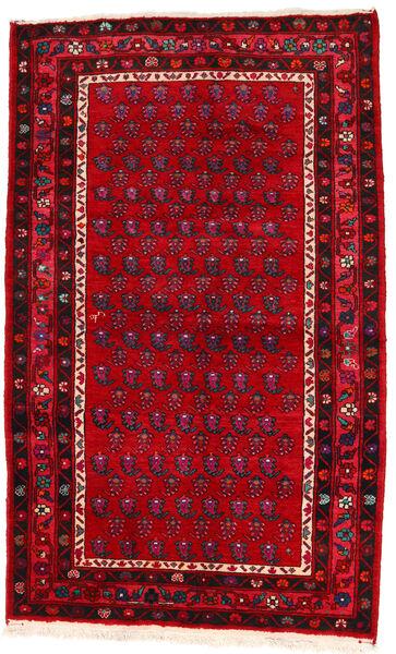 Hamadan Matto 133X217 Itämainen Käsinsolmittu Punainen/Tummanpunainen (Villa, Persia/Iran)