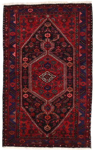 Zanjan Matto 139X224 Itämainen Käsinsolmittu Tummanruskea/Tummanpunainen (Villa, Persia/Iran)