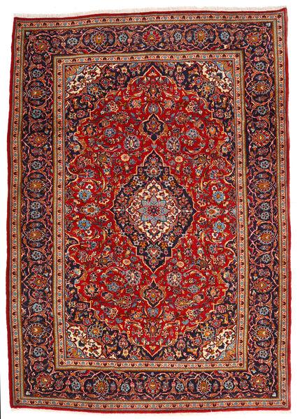 Keshan Matto 210X295 Itämainen Käsinsolmittu Tummanpunainen/Ruoste (Villa, Persia/Iran)