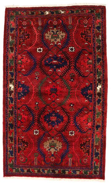 Hamadan Matto 137X227 Itämainen Käsinsolmittu Tummanvioletti/Tummanpunainen (Villa, Persia/Iran)
