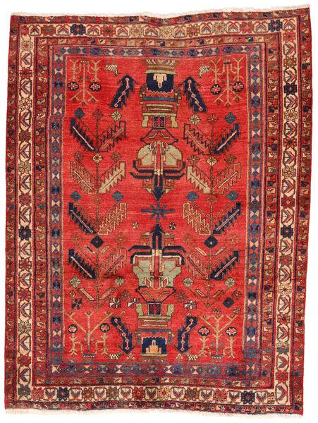 Afshar/Sirjan Matto 162X217 Itämainen Käsinsolmittu Tummanpunainen/Ruoste (Villa, Persia/Iran)