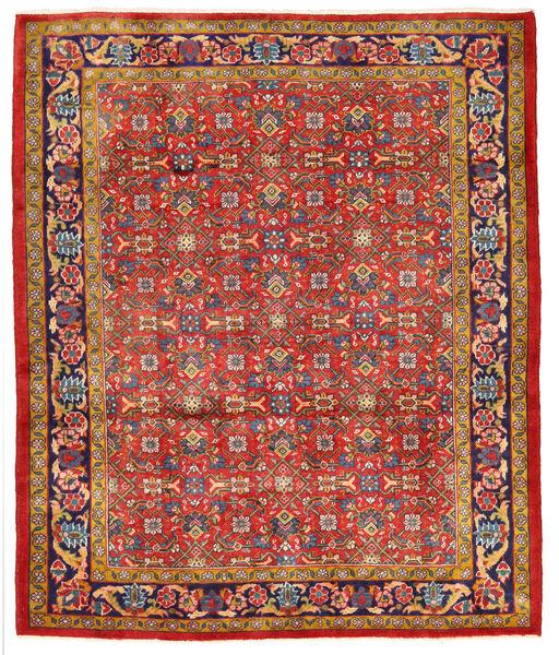 Hamadan Matto 165X200 Itämainen Käsinsolmittu Ruoste (Villa, Persia/Iran)