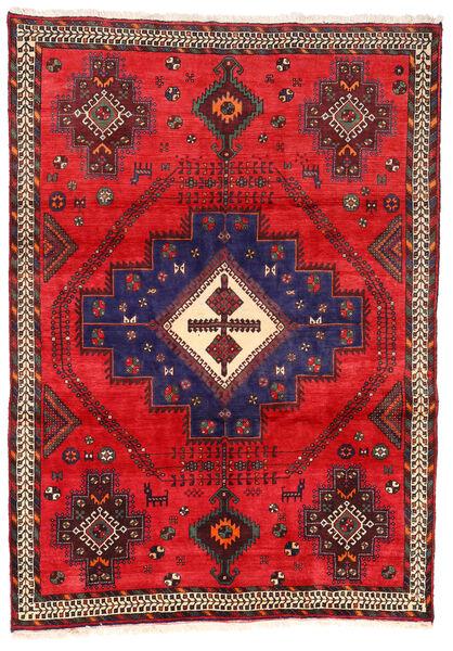 Afshar/Sirjan Matto 162X230 Itämainen Käsinsolmittu Punainen/Tummanvioletti (Villa, Persia/Iran)