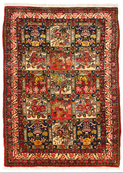 Bakhtiar Collectible Matto 108X150 Itämainen Käsinsolmittu Tummanruskea/Ruoste (Villa, Persia/Iran)