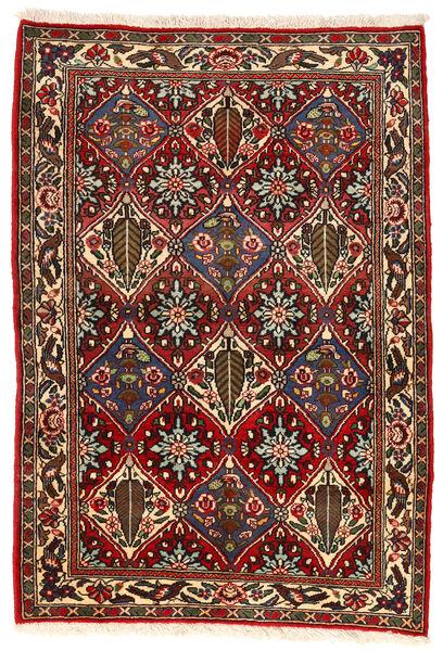 Bakhtiar Collectible Matto 105X153 Itämainen Käsinsolmittu Tummanruskea/Tummanpunainen (Villa, Persia/Iran)