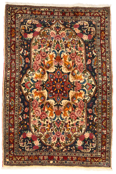 Bakhtiar Collectible Matto 110X165 Itämainen Käsinsolmittu Tummanruskea/Tummanpunainen (Villa, Persia/Iran)