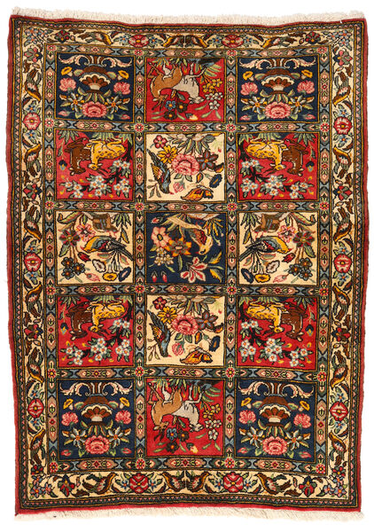 Bakhtiar Collectible Matto 107X145 Itämainen Käsinsolmittu Musta/Punainen (Villa, Persia/Iran)