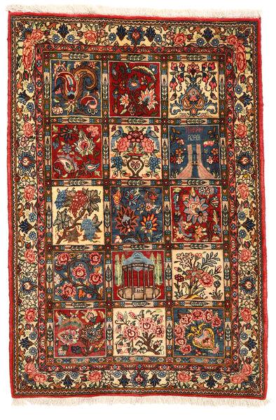 Bakhtiar Collectible Matto 104X155 Itämainen Käsinsolmittu Tummanruskea/Tummanpunainen (Villa, Persia/Iran)