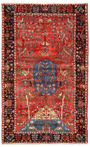 Nahavand Old Matto 156X256 Itämainen Käsinsolmittu Tummanpunainen/Tummanruskea (Villa, Persia/Iran)