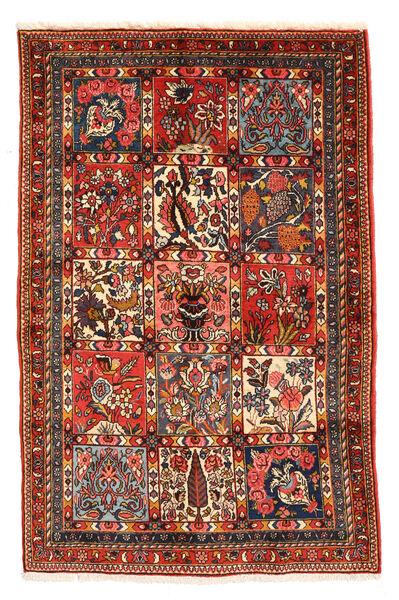 Bakhtiar Collectible Matto 98X150 Itämainen Käsinsolmittu Tummanruskea/Tummanpunainen (Villa, Persia/Iran)
