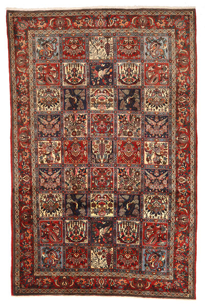 Bakhtiar Collectible Matto 208X317 Itämainen Käsinsolmittu Tummanpunainen/Tummanruskea (Villa, Persia/Iran)