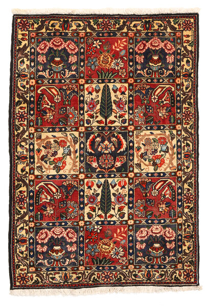 Bakhtiar Collectible Matto 108X161 Itämainen Käsinsolmittu Tummanruskea/Tummanpunainen (Villa, Persia/Iran)