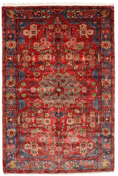 Nahavand Old Matto 155X230 Itämainen Käsinsolmittu Tummanpunainen/Ruoste (Villa, Persia/Iran)