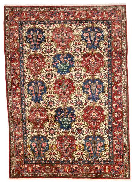 Bakhtiar Collectible Matto 200X292 Itämainen Käsinsolmittu Tummanruskea/Tummanpunainen (Villa, Persia/Iran)
