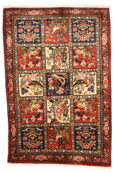 Bakhtiar Collectible Matto 102X154 Itämainen Käsinsolmittu Tummanruskea/Punainen (Villa, Persia/Iran)
