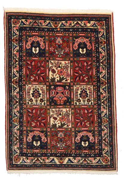 Bakhtiar Collectible Matto 105X148 Itämainen Käsinsolmittu Musta/Tummanruskea (Villa, Persia/Iran)