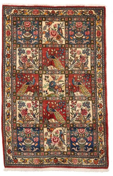 Bakhtiar Collectible Matto 106X162 Itämainen Käsinsolmittu Tummanruskea/Tummanpunainen (Villa, Persia/Iran)