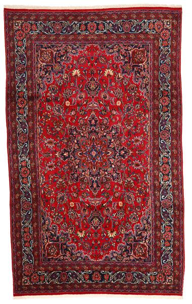 Mashad Matto 200X320 Itämainen Käsinsolmittu Tummanpunainen/Tummanruskea (Villa, Persia/Iran)