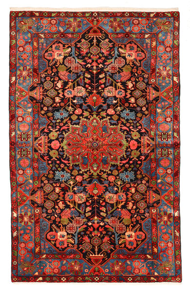 Nahavand Old Matto 150X240 Itämainen Käsinsolmittu Tummanpunainen/Musta (Villa, Persia/Iran)
