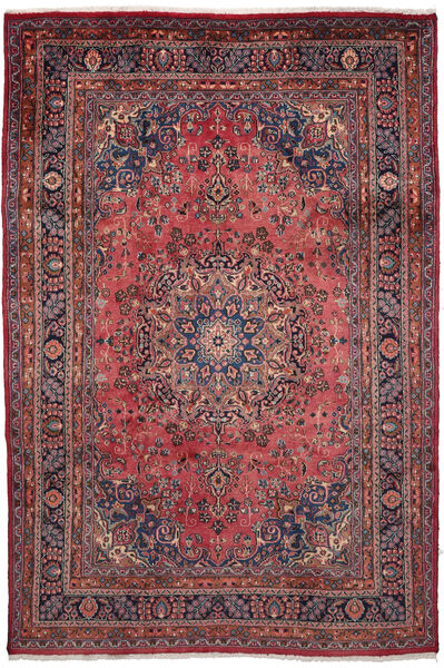 Mashad Matto 203X302 Itämainen Käsinsolmittu Tummanruskea/Tummanpunainen (Villa, Persia/Iran)
