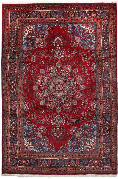 Mashad Matto 192X297 Itämainen Käsinsolmittu Tummanpunainen/Musta (Villa, Persia/Iran)