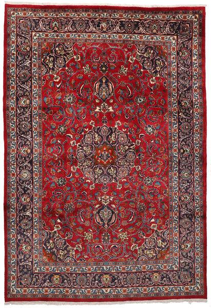 Mashad Matto 203X298 Itämainen Käsinsolmittu Tummanpunainen/Tummanruskea (Villa, Persia/Iran)
